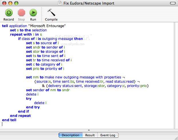 Fix Eudora/Netscape Import screenshot 1