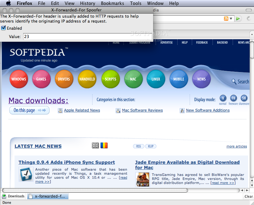 Download X-Forwarded-For Spoofer 1.0.2 (Mac) - Softpedia