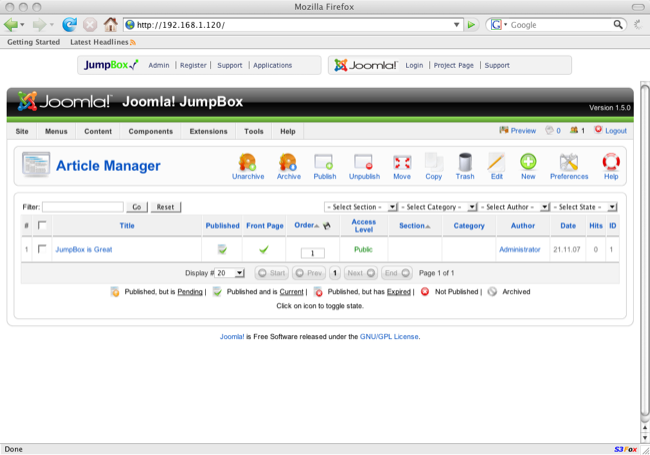 JumpBox for Joomla screenshot 3