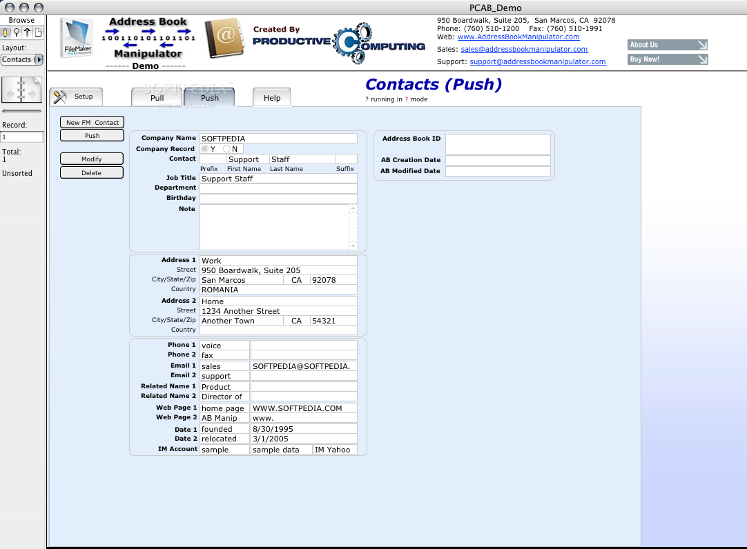 Address Book Manipulator screenshot 2