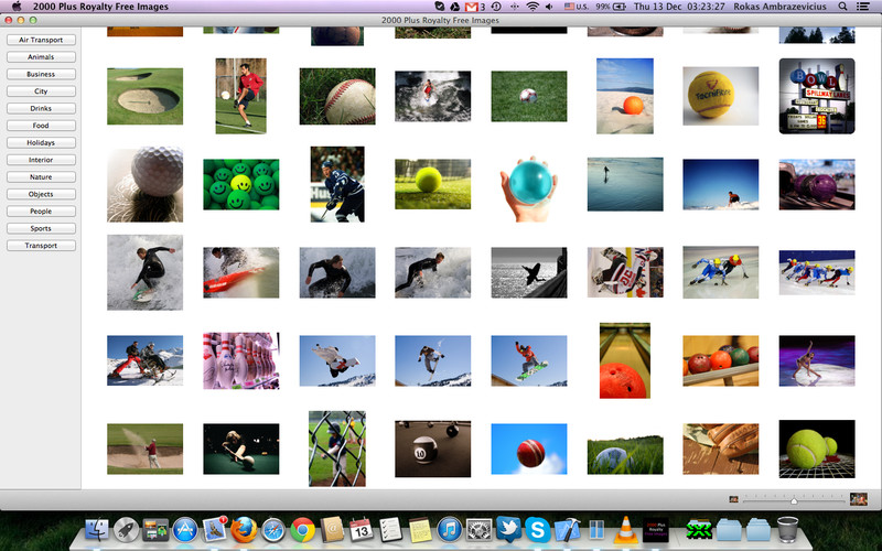 2000 Plus Royalty Free Images screenshot 1 - You can browse and view images with ease by using the menus.