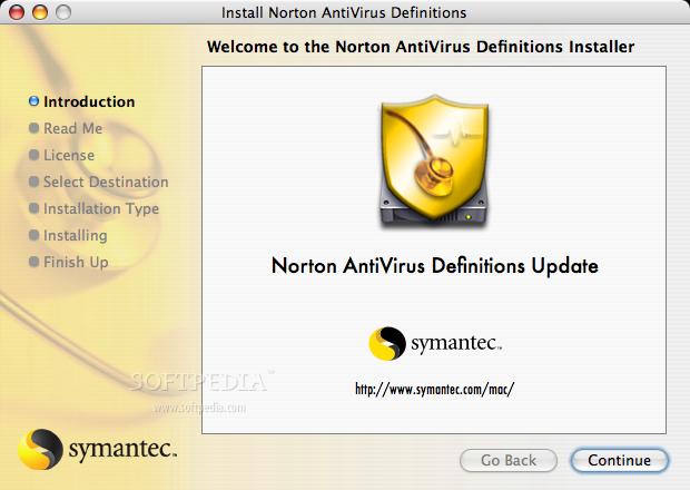 Norton AntiVirus Definitions Mac September 6, 2019 - Download