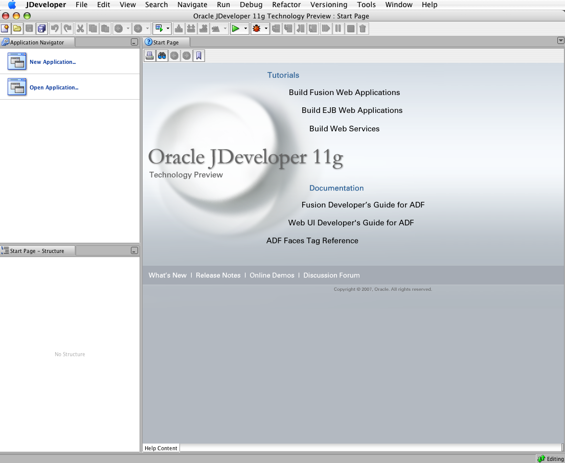Oracle on mac
