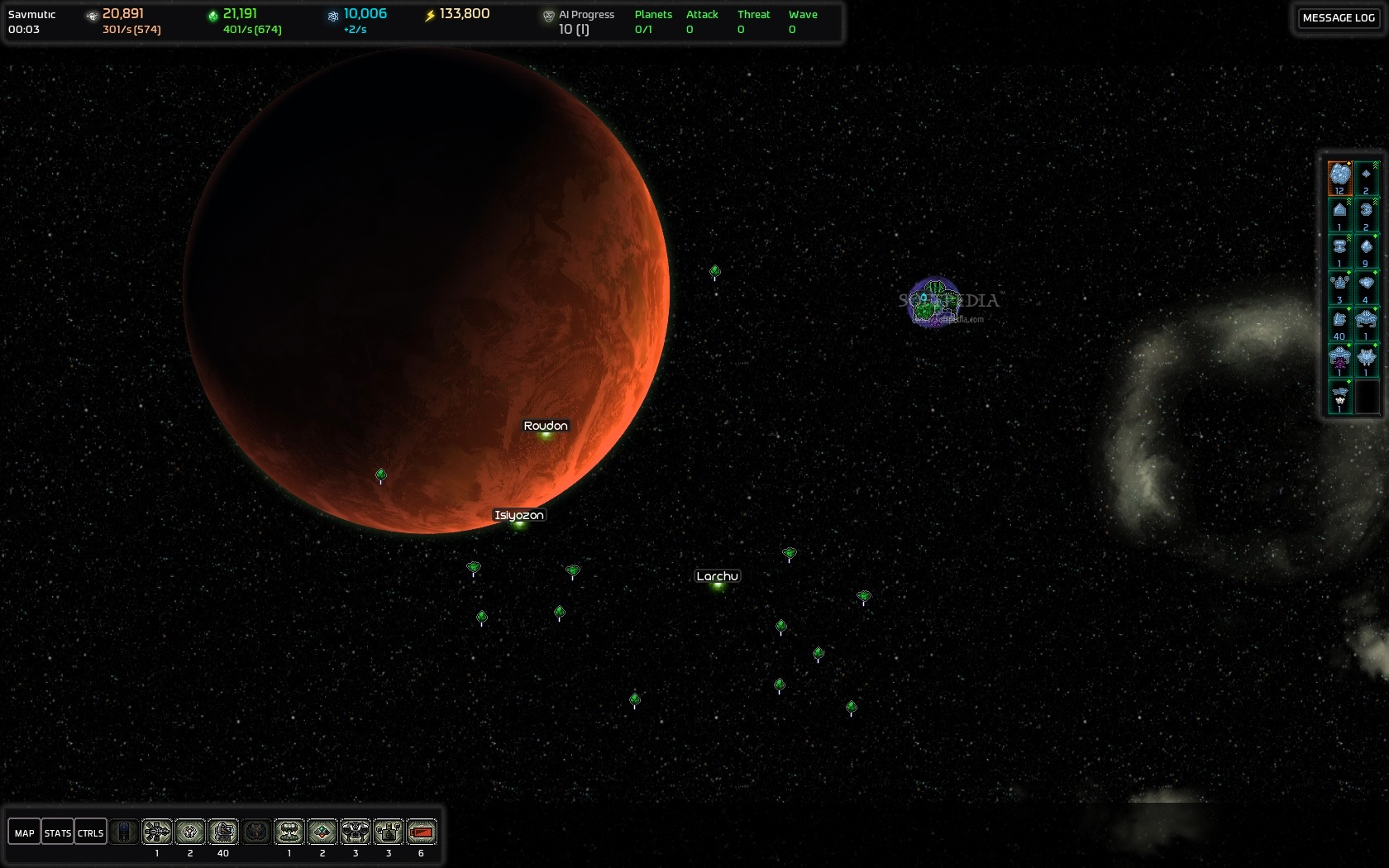 AI War: Fleet Command screenshot 1 - A darker system.