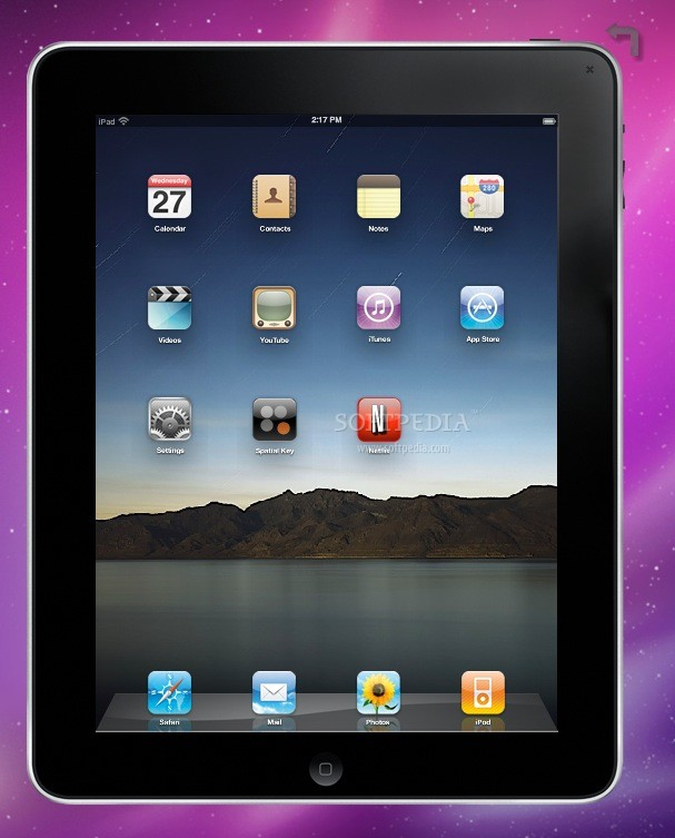 AIR iPad screenshot 1 - The main menu of the iPad simulation