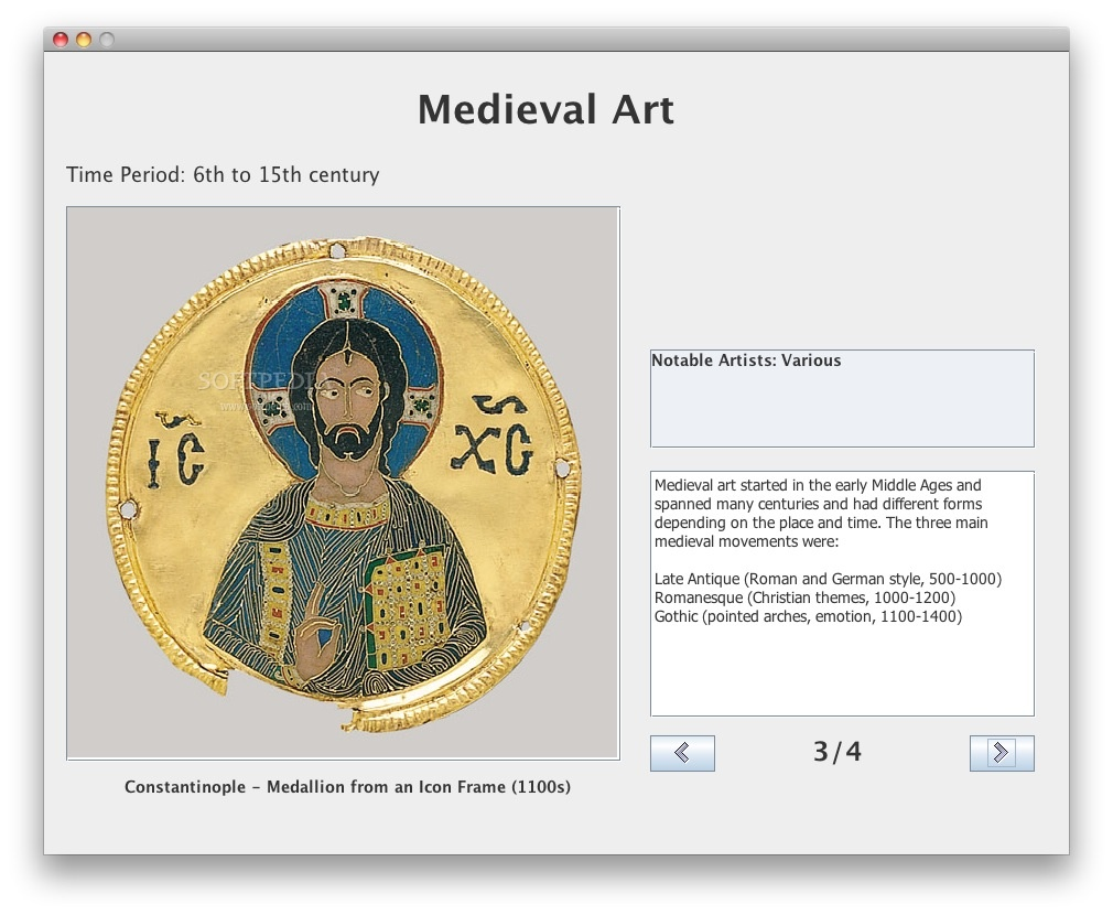 AP European History Art screenshot 3 - Here you can find more about medieval art.