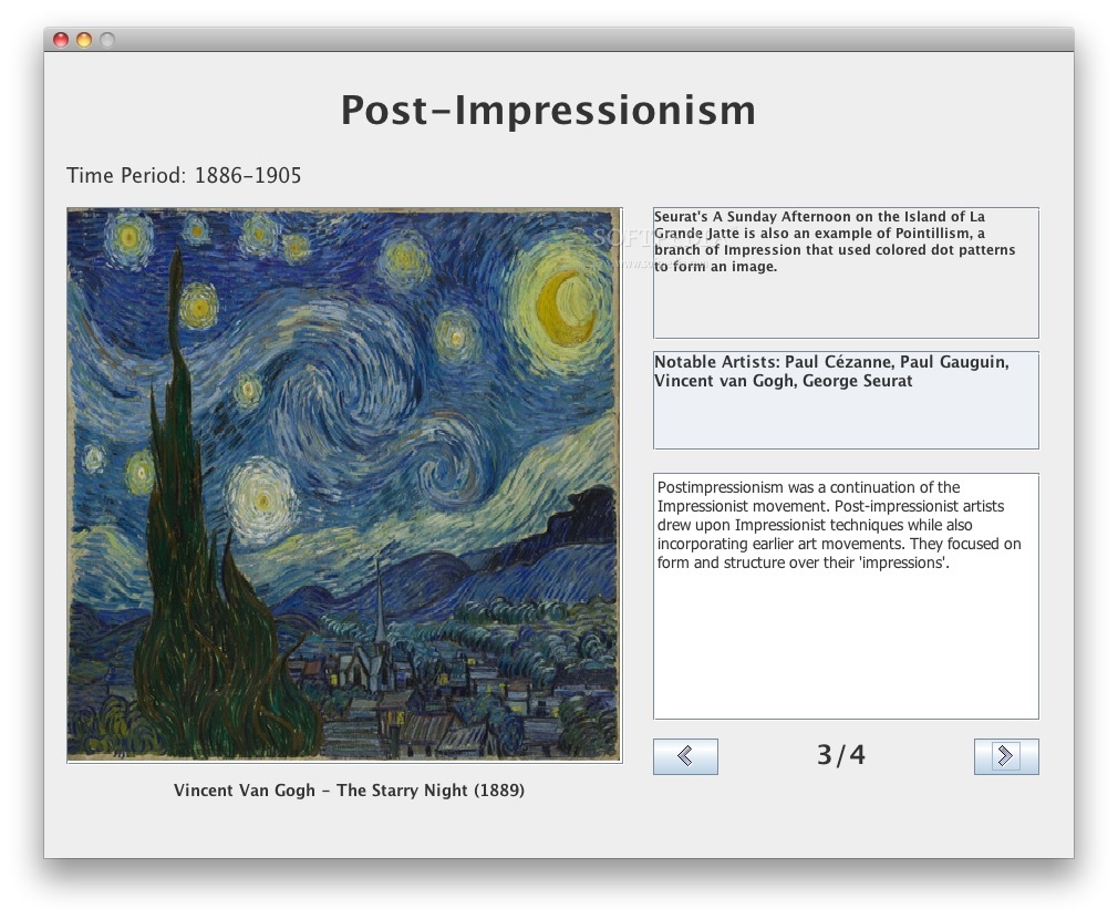 AP European History Art screenshot 4 - Post-impressionism tutorial.