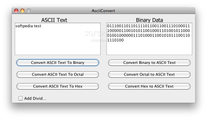 ASCII Converter screenshot 1 - This is how you can convert normal text to ASCII text.