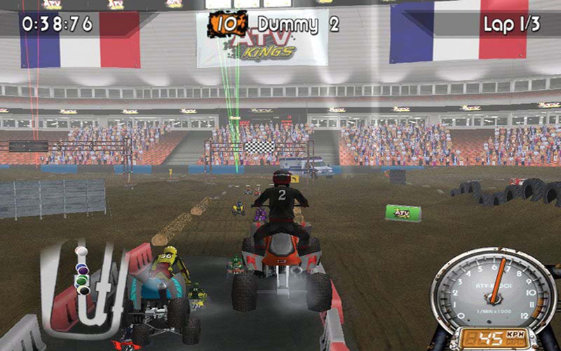 ATV Quad Kings screenshot 1 - Each race track comes with various bumps and jumps.