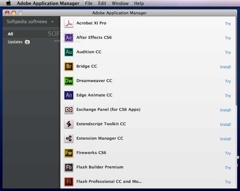 Adobe application manager for mac
