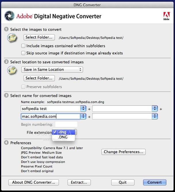 convert cr2 to dng mac