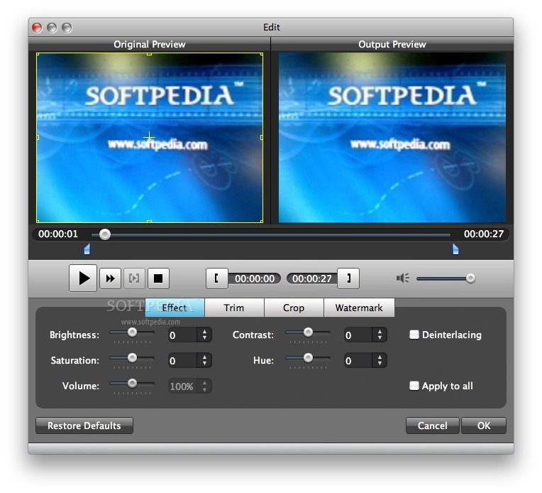 Aiseesoft Video Converter screenshot 4 - Here you can edit the selected video files.