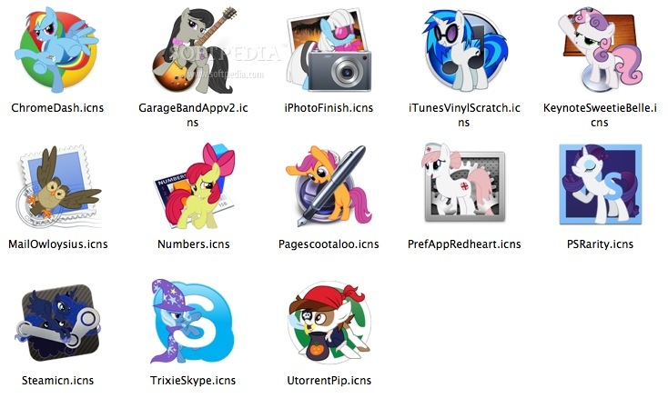 Alpha's Pony Icon Pack Mac - Download