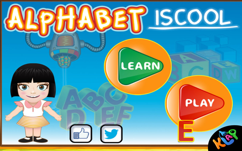 Alphabet Is Cool by KLAP screenshot 1 - Kids can learn the alphabet and play in this educational game.