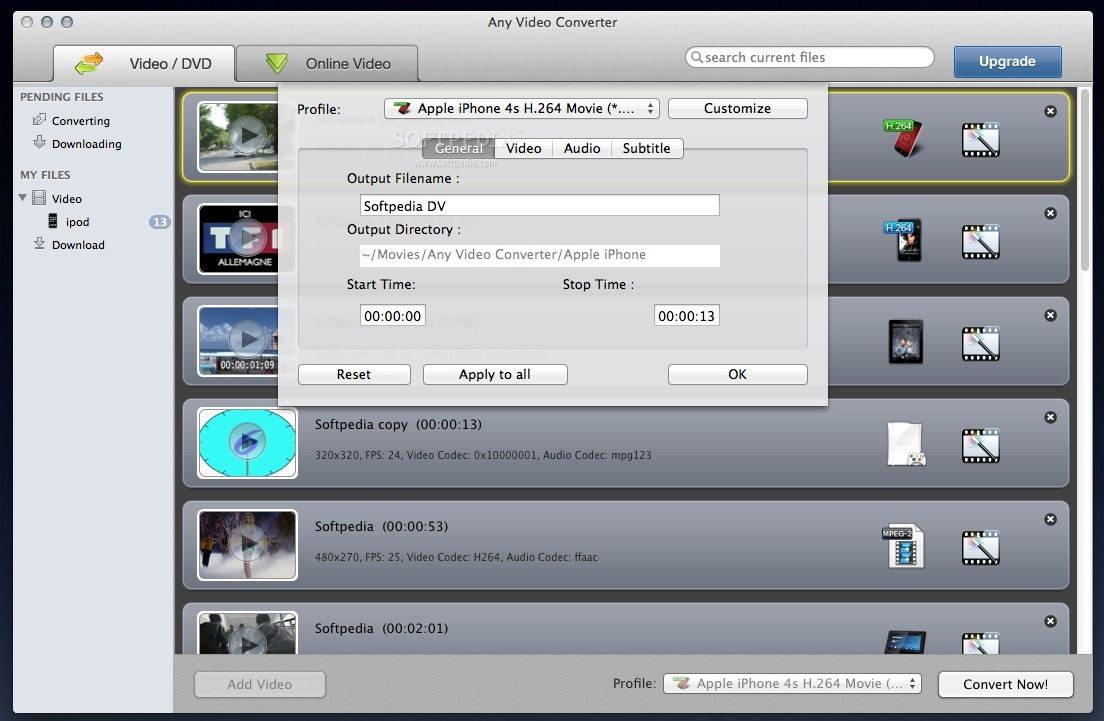 Any Video Converter Pro screenshot 4