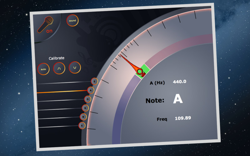 Any Guitar Tuner screenshot 1 - You will be able to accurately tune your guitar instrument.