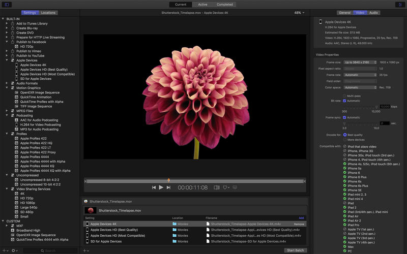 Update improves reliability of Send to Compressor from Final Cut Pro X