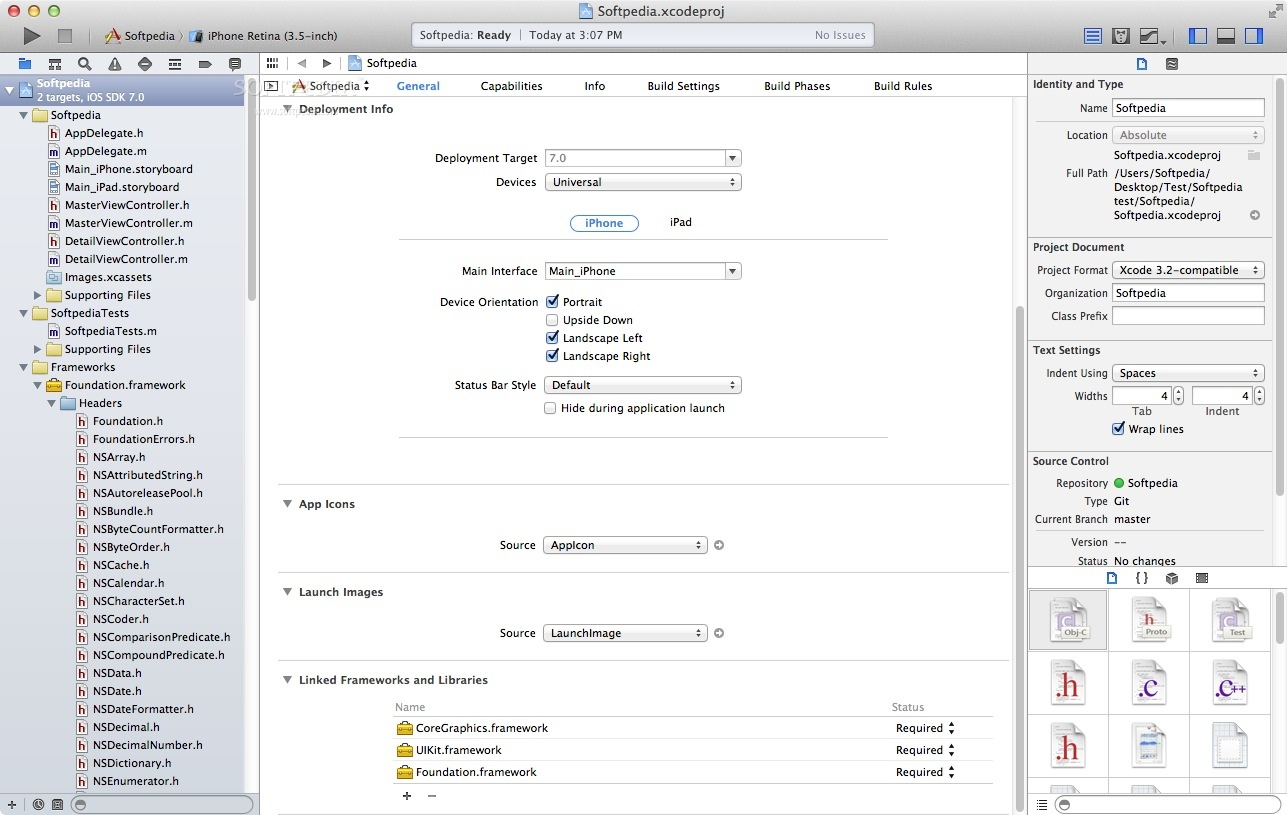 Apple Xcode screenshot 6 - From Apple Xcode's main window you will be able to choose a template for your iOS or OS X project.