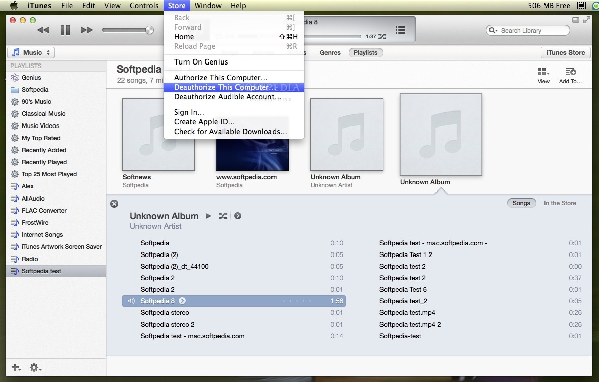 Apple iTunes screenshot 8