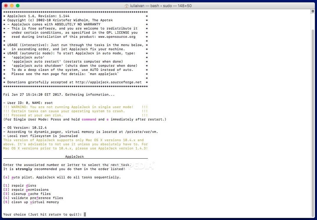 AppleJack Mac 1 6 - Download