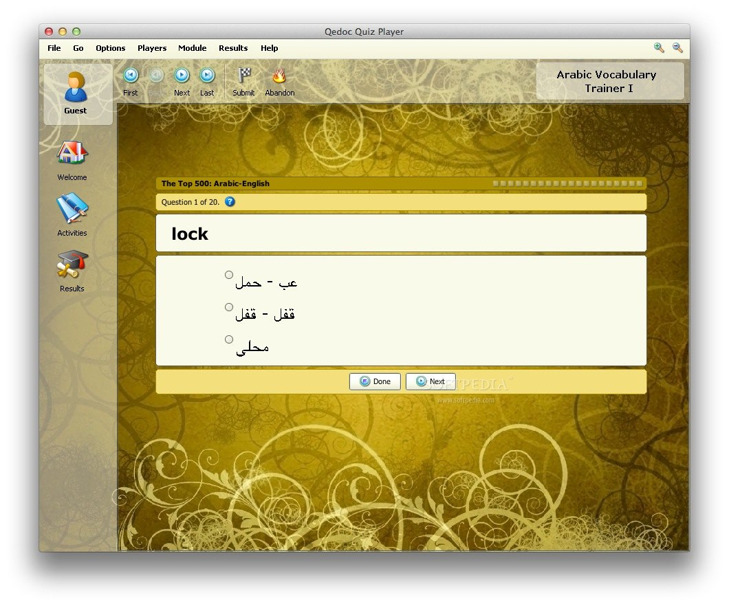 Arabic Vocabulary Trainer screenshot 3