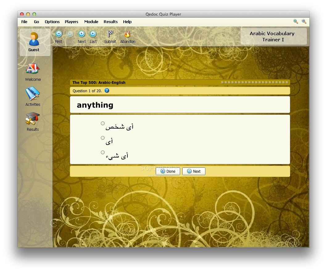 Arabic Vocabulary Trainer screenshot 4