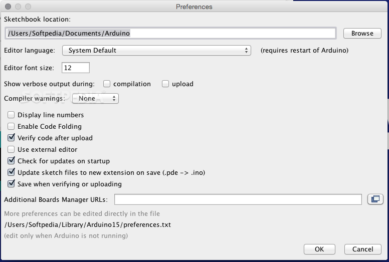 Image result for preferences arduino IDE