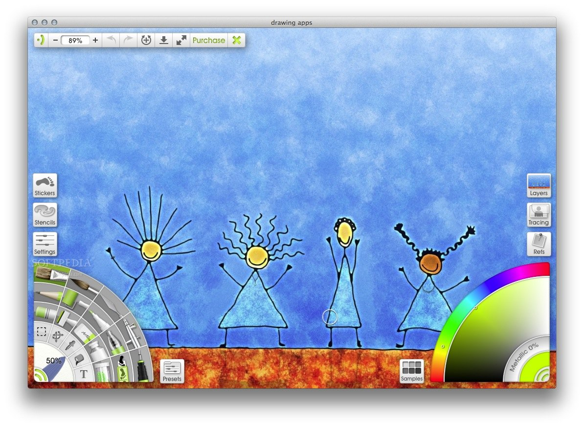 ArtRage screenshot 1 - From ArtRage 4's main window users will be able to start a new painting or open and edit one of your projects.