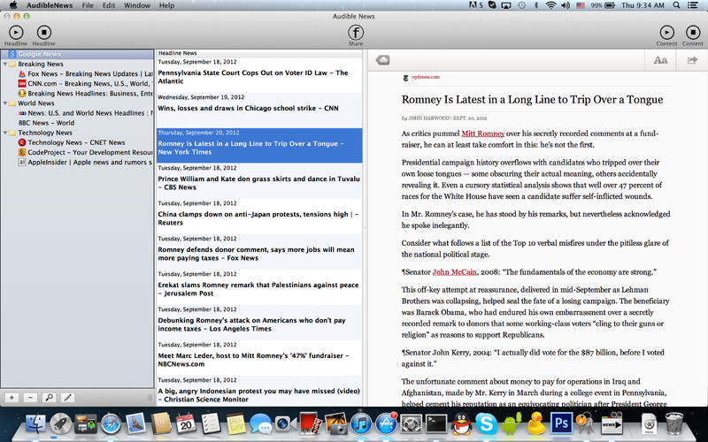 Audible News screenshot 2