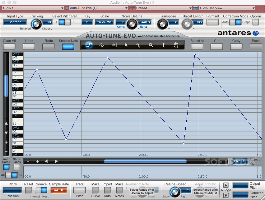 Auto-Tune Evo Mac 6 1 0 - Download