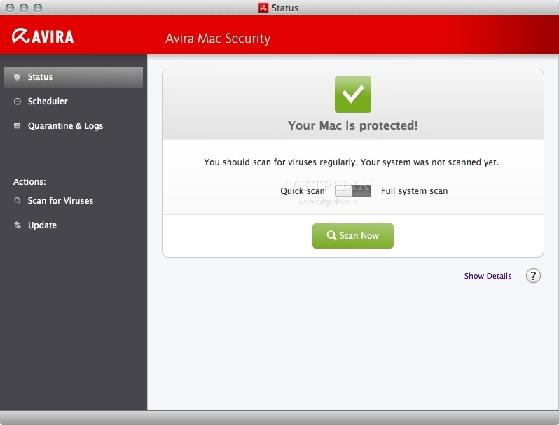 Avira Free Mac Security screenshot 1