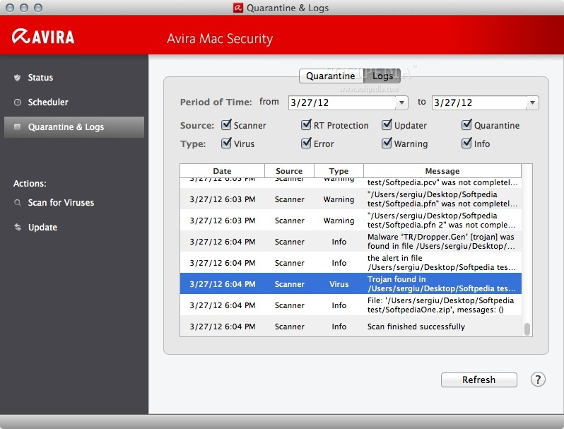 Avira Free Mac Security screenshot 8