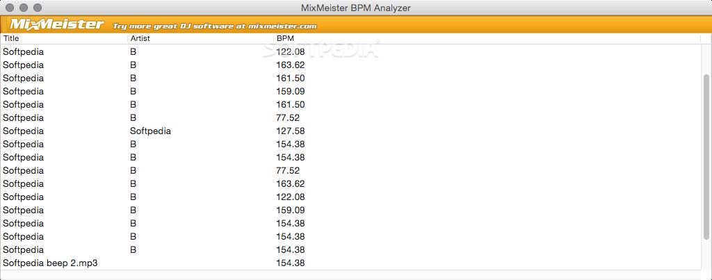 BPM Analyzer Mac 1 0 1 - Download