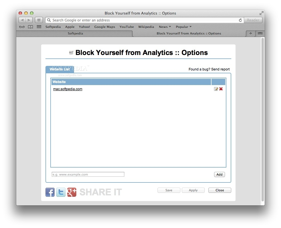 Block Yourself from Analytics screenshot 2