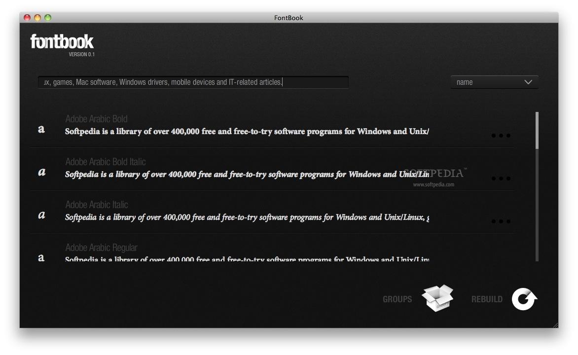 FontBook Mac 0 1 - Download