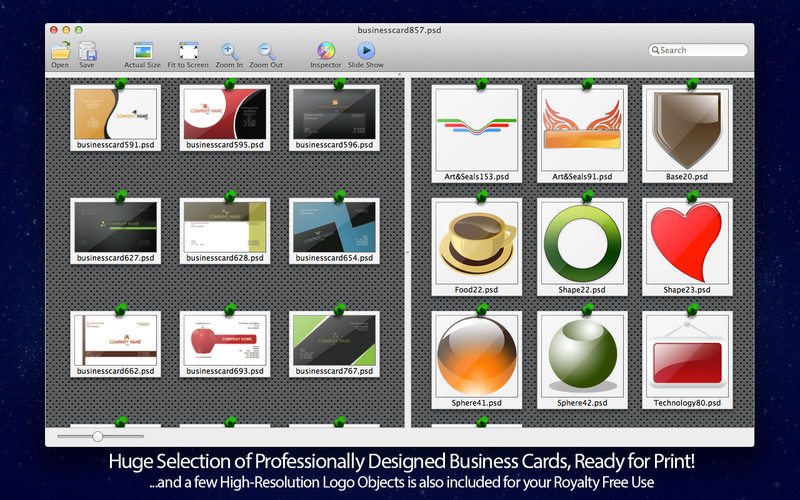 Business Card Maven PSD Templates for Adobe Photoshop Lite 1 screenshot 3