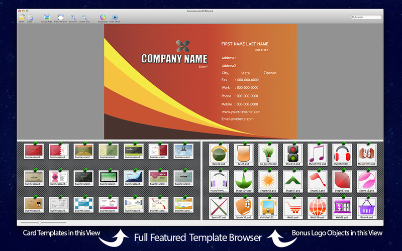 Business Card Maven PSD Templates for Adobe Photoshop Pack 3 screenshot 1