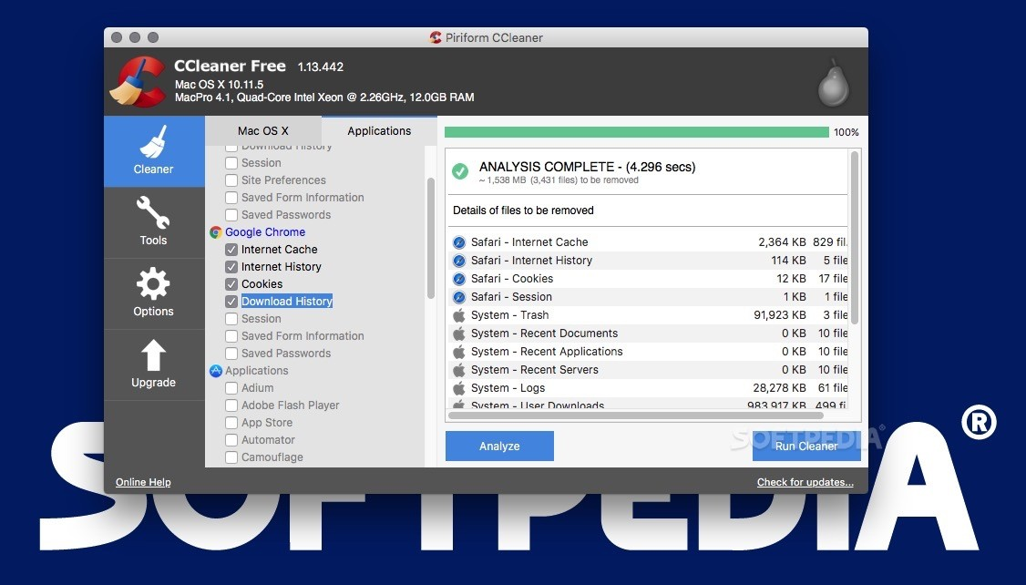 Download ccleaner mac 115507 ccleaner after analyzing the selected items you can start the cleaning process stopboris Gallery