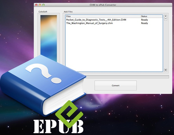 CHM to ePub Converter screenshot 1