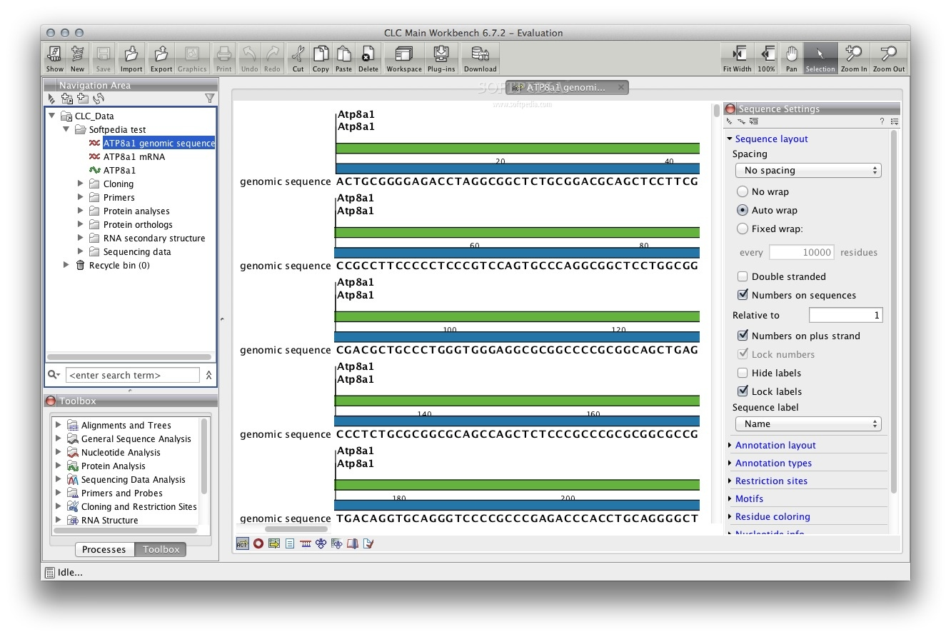CLC Main Workbench screenshot 1 - You will be able to perform advanced DNA, RNA, and protein analyses.