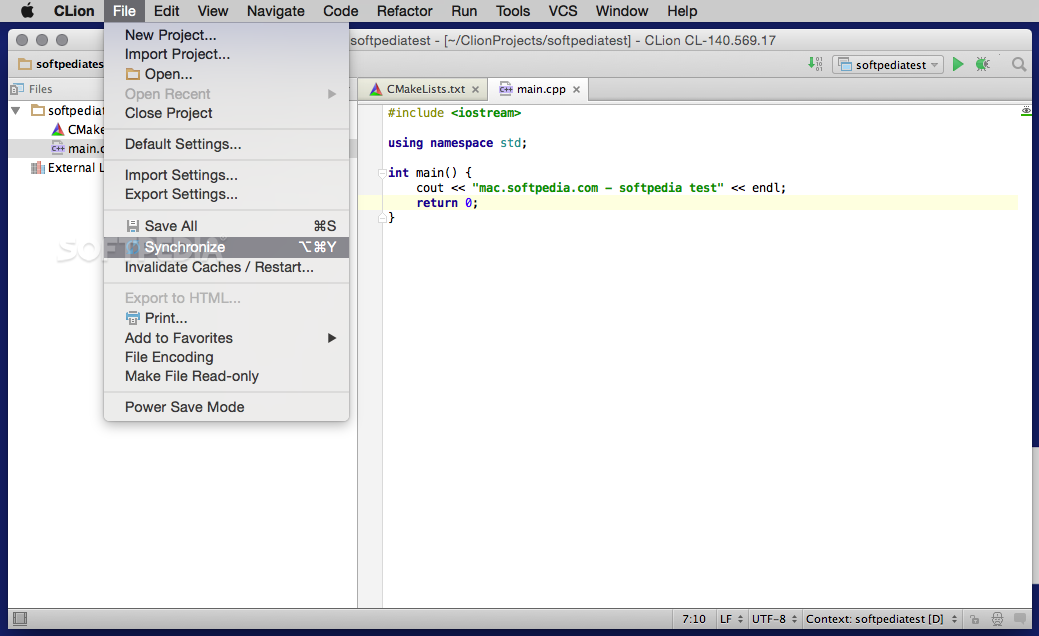 Clion Text Editor