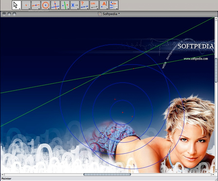 Cabri II Plus screenshot 1 - In this window users can create 2D and 3D figures.