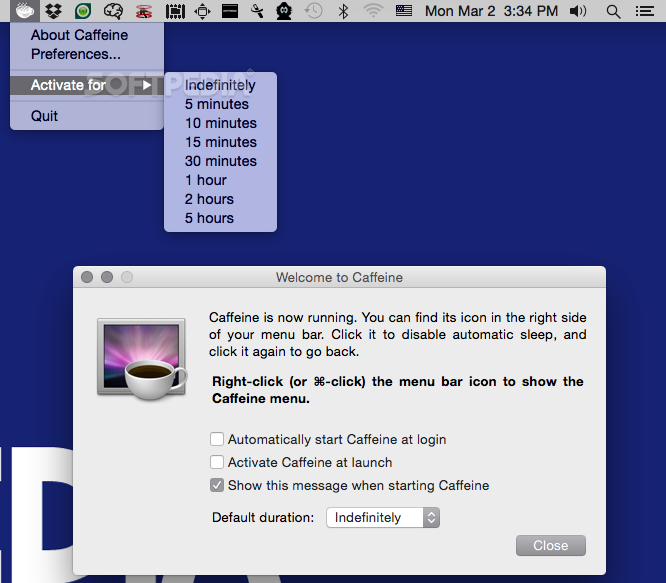 Caffeine 1.1.1 free download for mac free