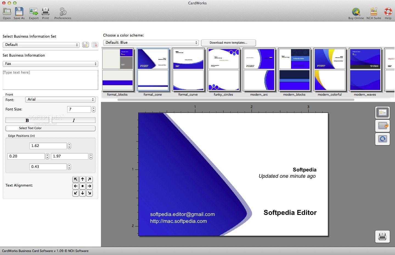 Download CardWorks Business Card Software Mac 3.00