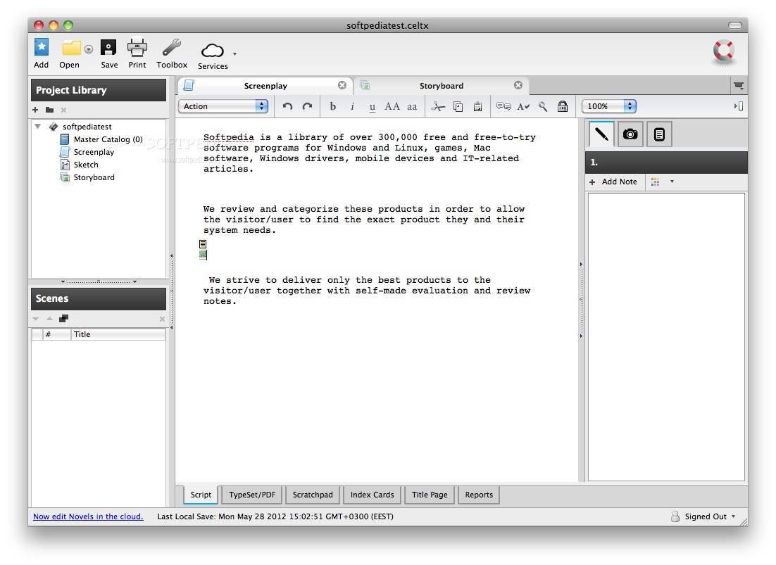Celtx Mac 2 9 7 - Download