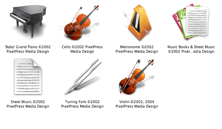 Chamber Orchestra screenshot 1 - The icons included in the collection.