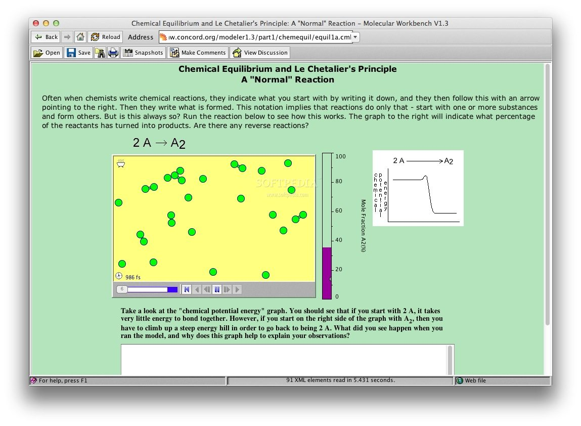 Chemical Equilibrium screenshot 1