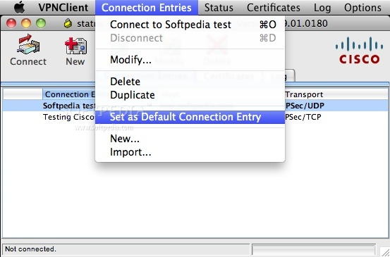 Cisco VPN Client Mac 4 9 01 0280 - Download