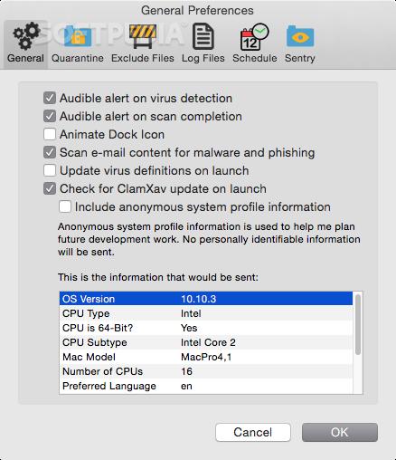 ClamXAV Mac 3 0 12 Build 8001 - Download