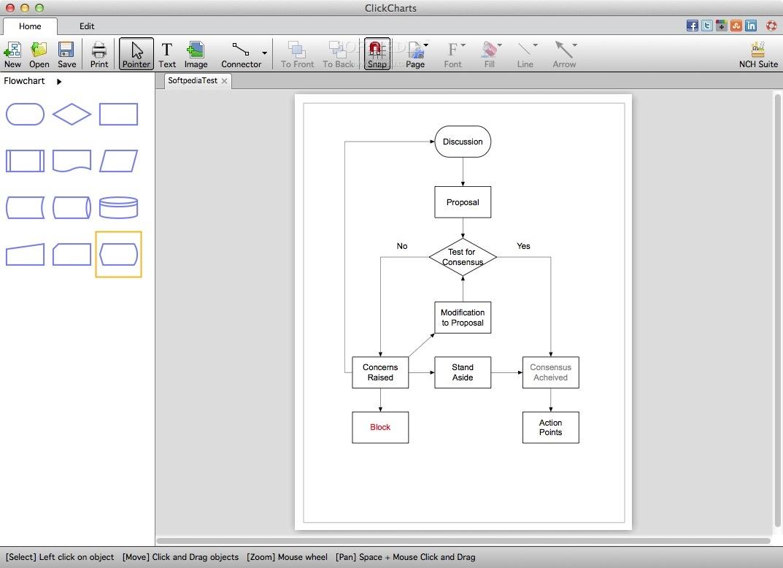 ClickCharts Diagram Flowchart Software Mac 4 05 - Download